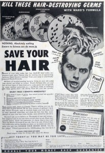 Hair loss advert