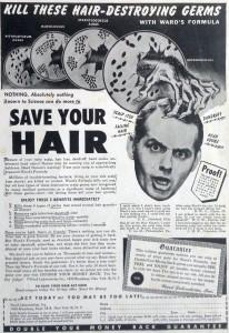 Hair loss advert